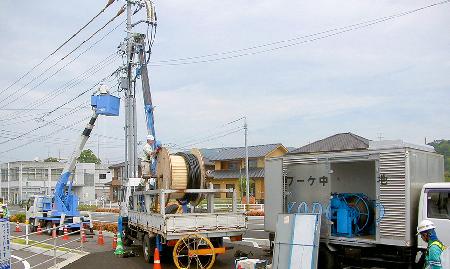 ケーブル敷設